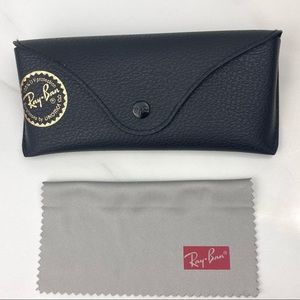 RAY BAN Black Sunglasses Case & Cloth